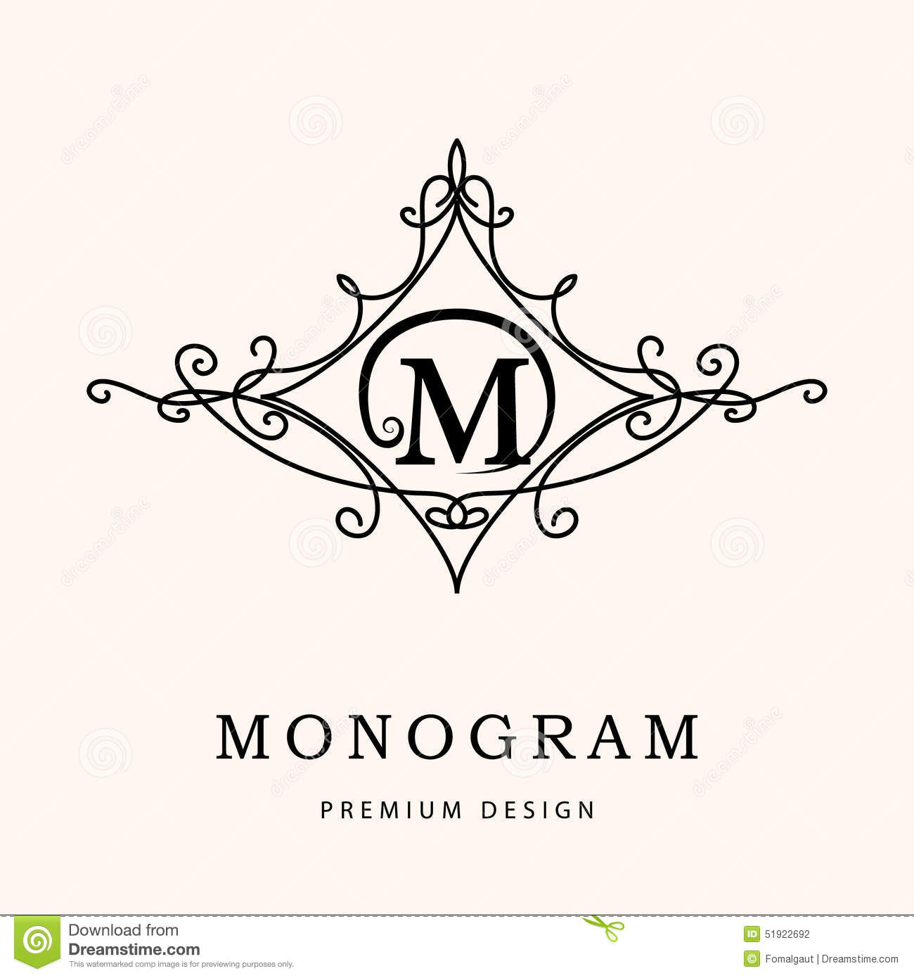 Monogram design elements graceful template elegant line art logo monogram design elements graceful template elegant line art logo design letter m emblem vector illustration illustration 51922692 megapixl pronofoot35fo Images