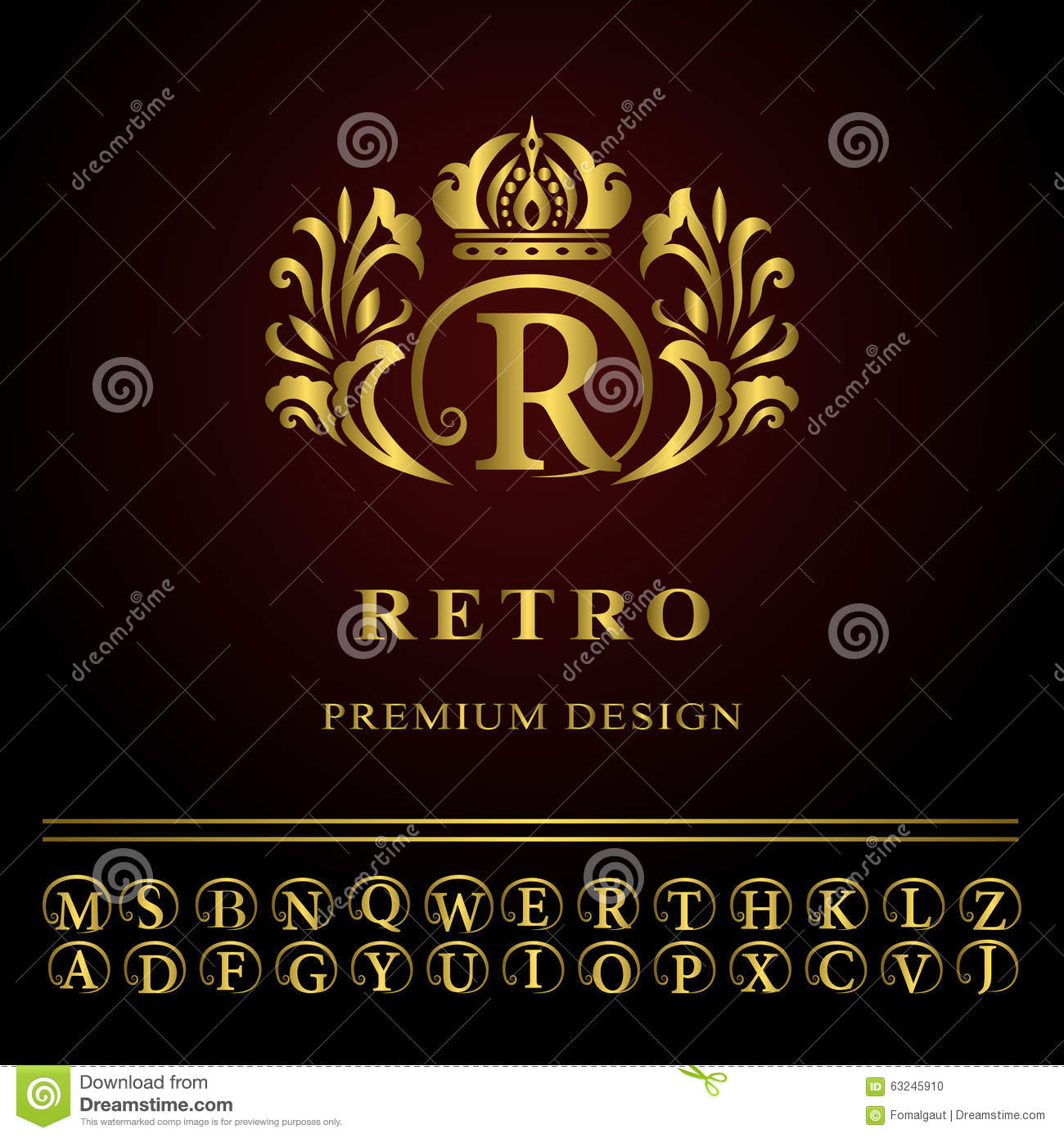 Progressive Logo Design For You Choose The Text Style To: Monogram Logo Letter, Simple Thin Line Emblem, Road Stock