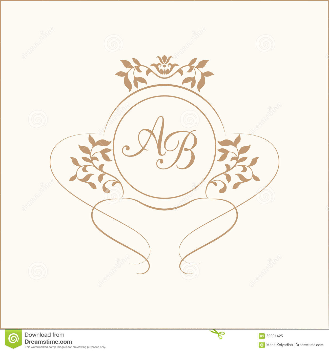 monogram stock vector illustration of element boutique 59031425