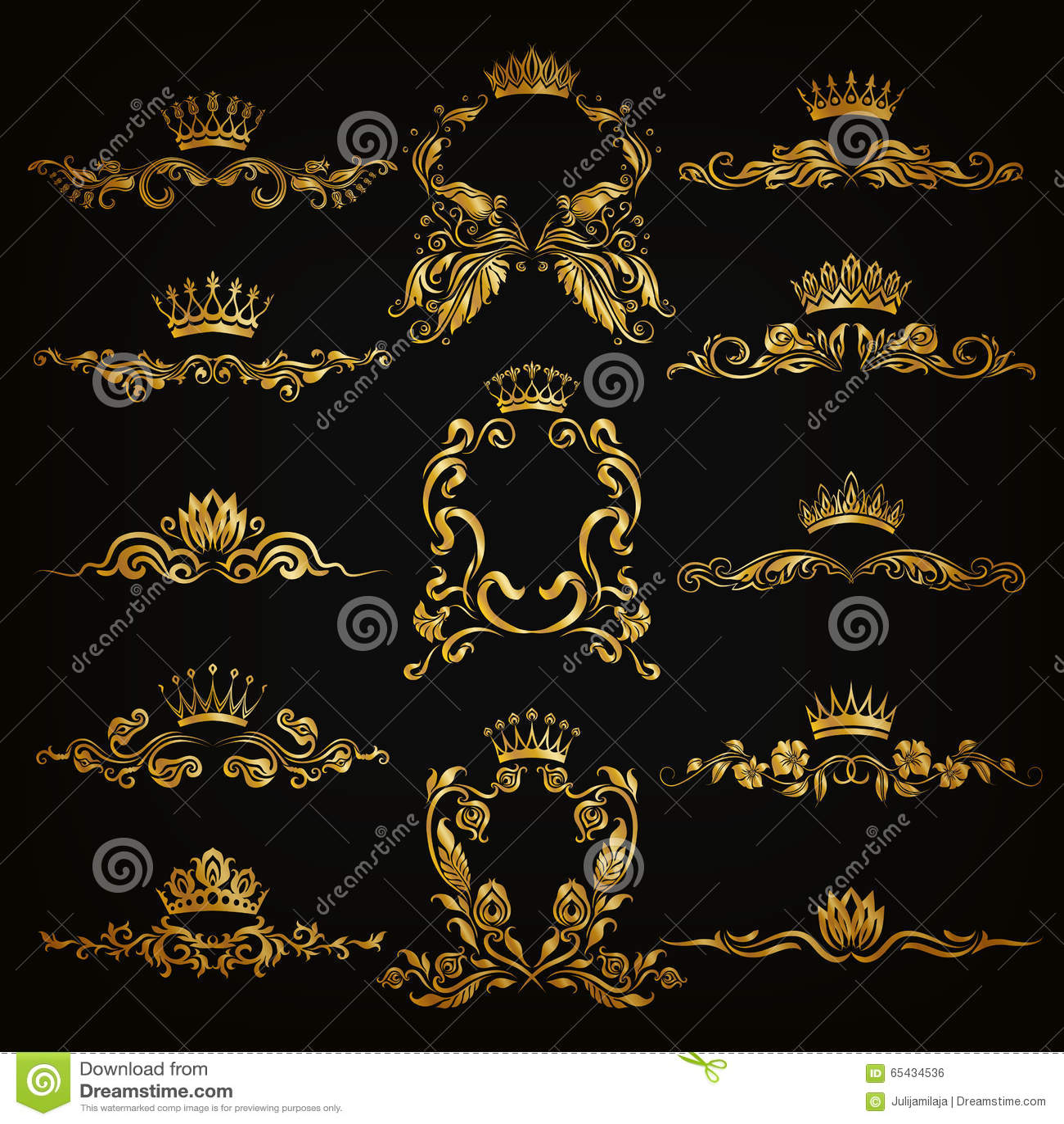 monogram logos set stock vector   image 65434536