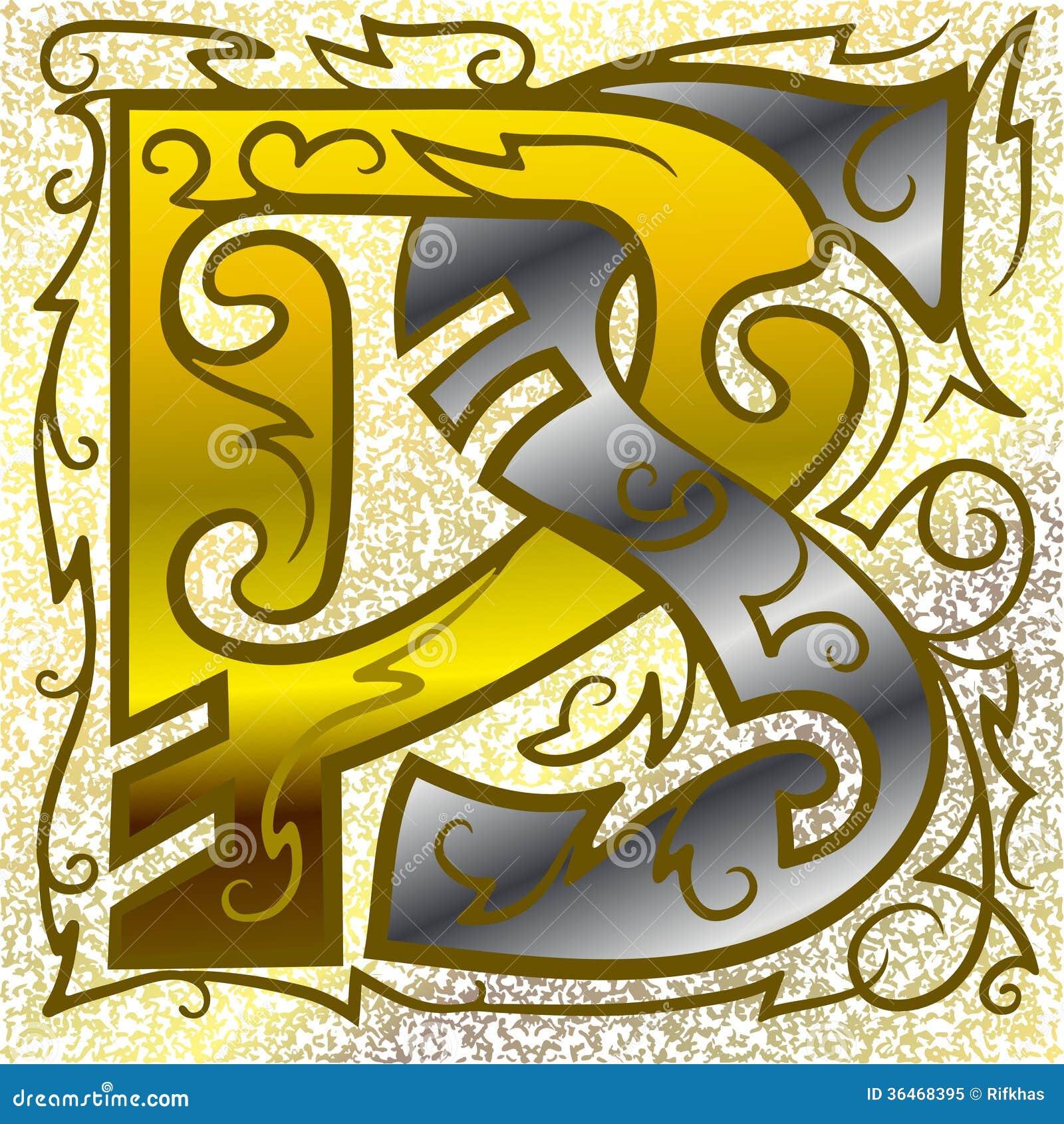 Monogram ps stock vector image of classic alphabet 36468395 monogram ps buycottarizona