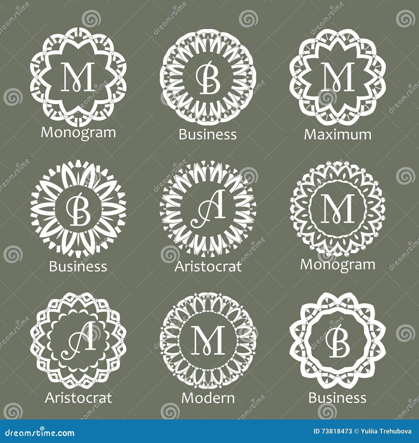 Ornate vintage monogram ornamental frame with place for for Monogram homes floor plans