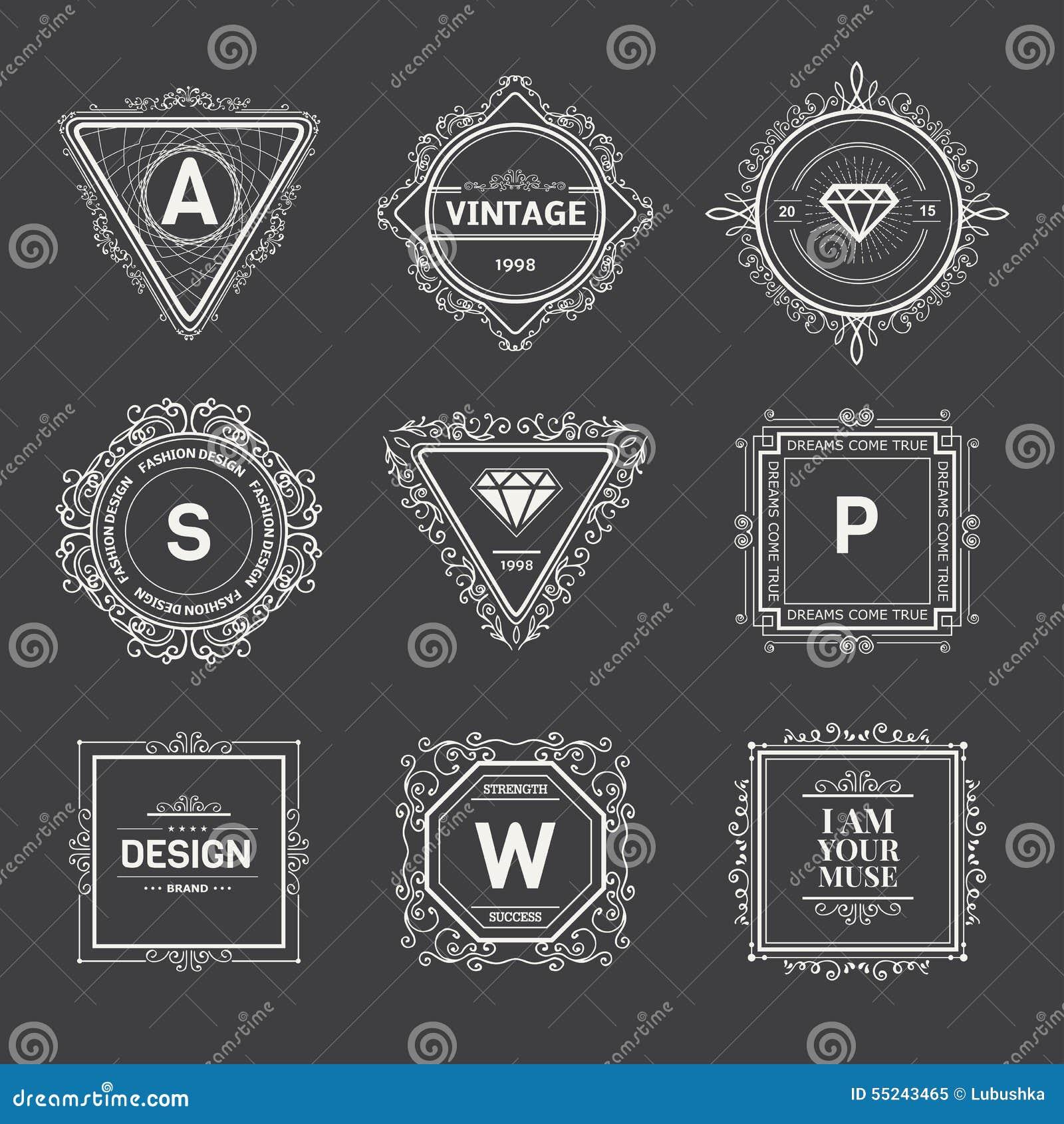 Monogram Template | Monogram Template Stock Vector Illustration Of Antique 55243465