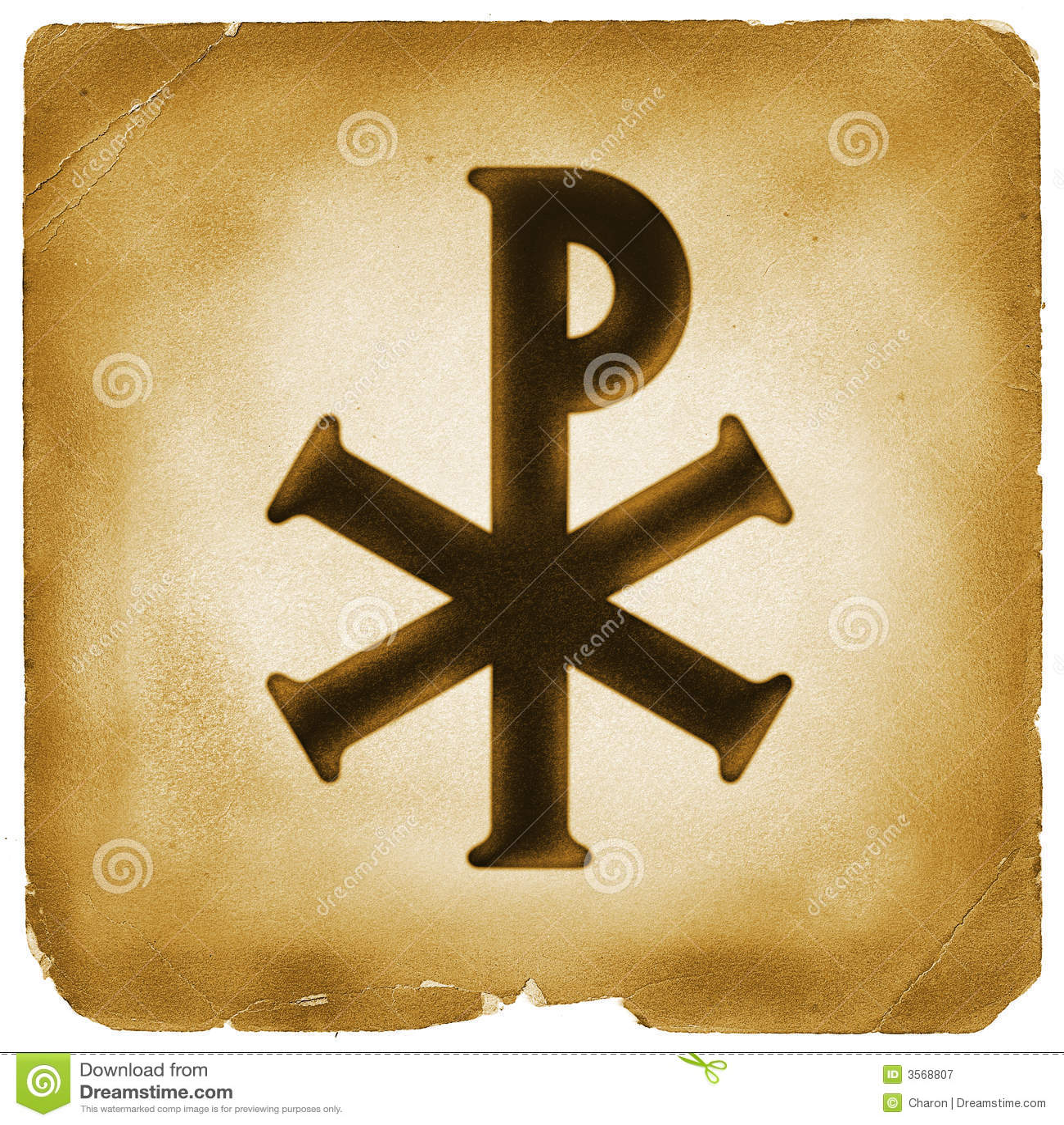 monogram van het symbool van christus stock illustratie
