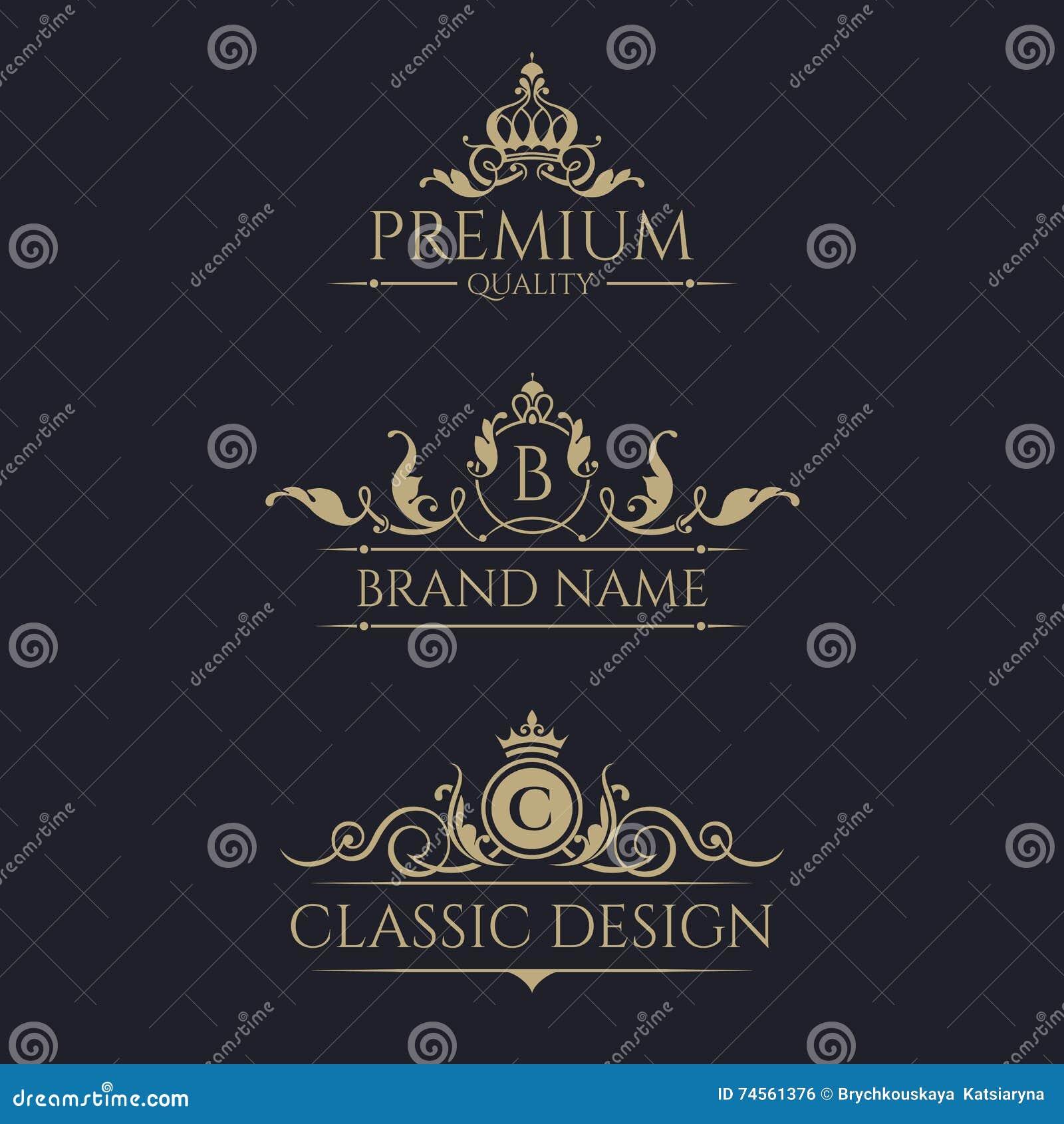 Monograma con la corona Fronteras superiores fijadas