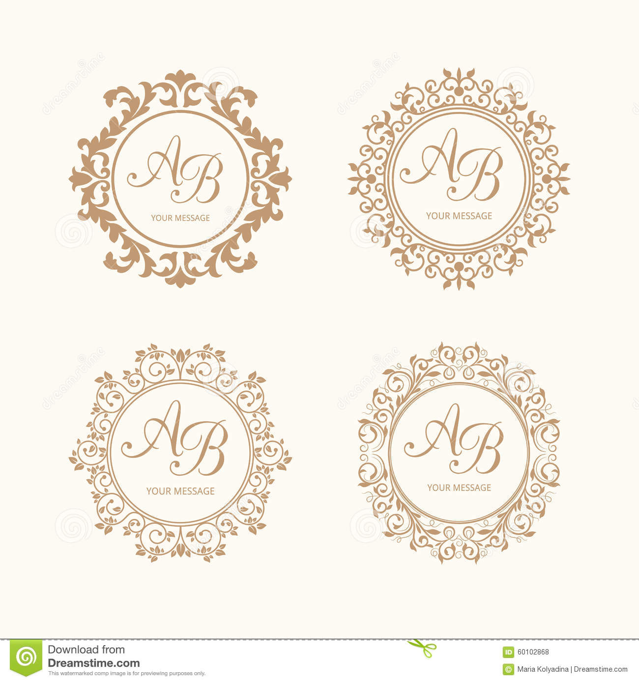 monograms stock vector  image of boutique  design  elegant