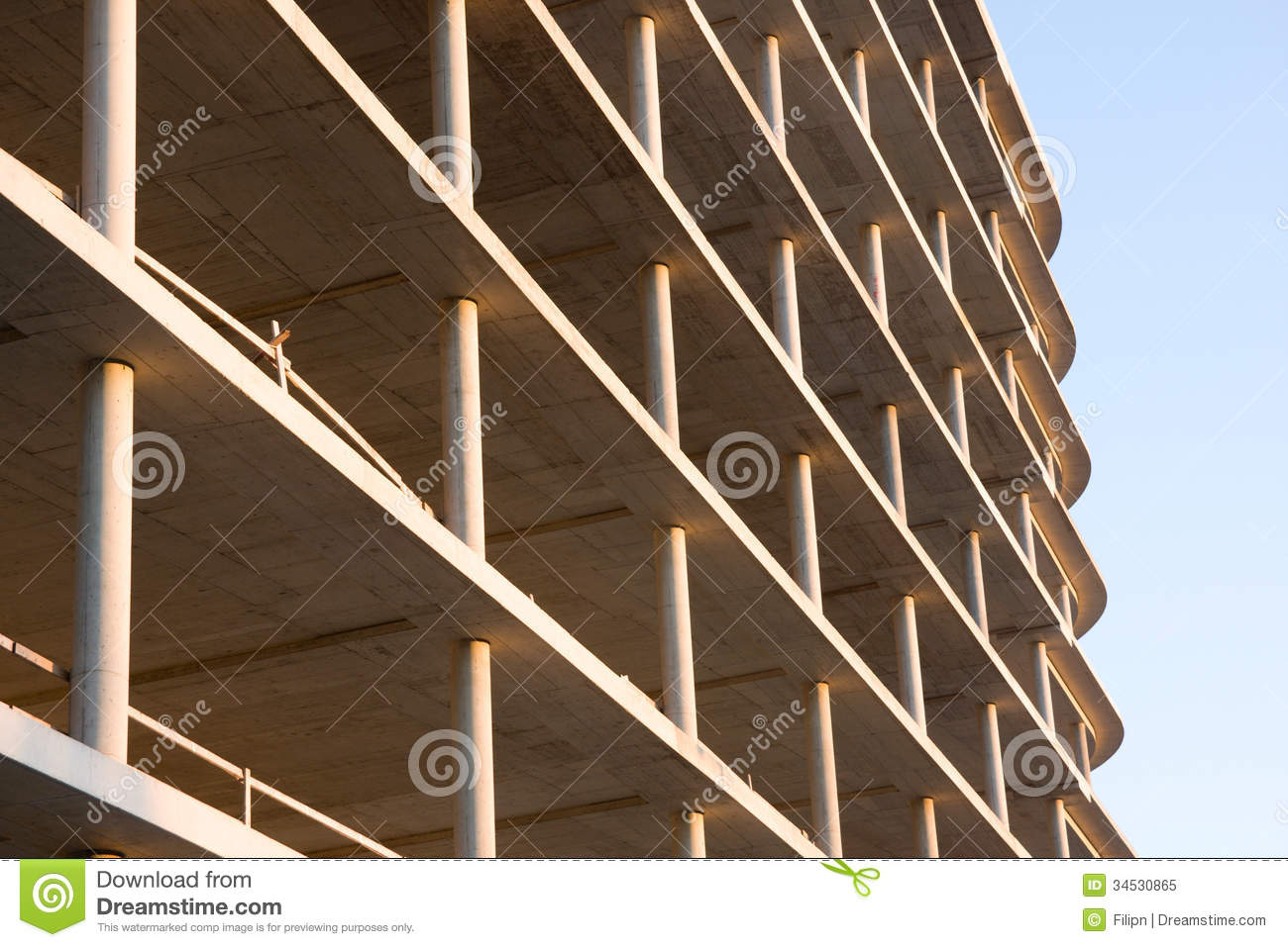 Monolithic reinforced concrete construction stock image for Structure photography