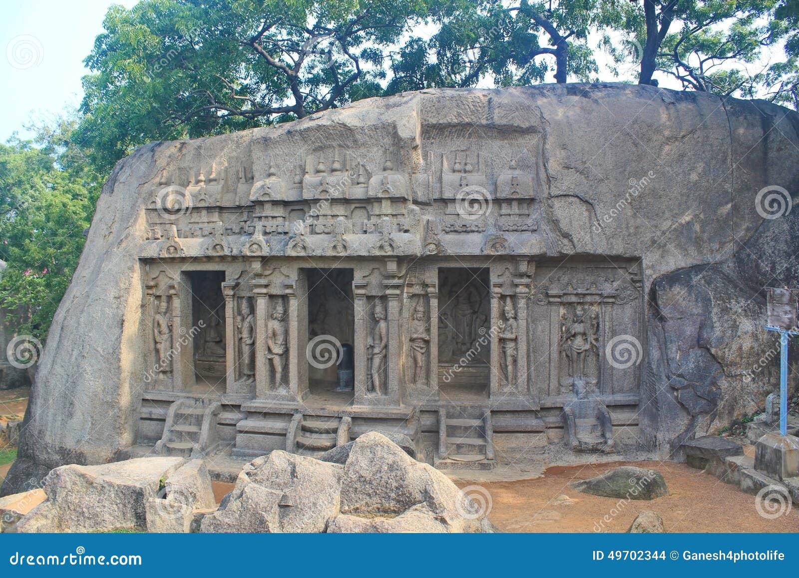 Monolitiskt vagga snitttemplet, Mahabalipuram