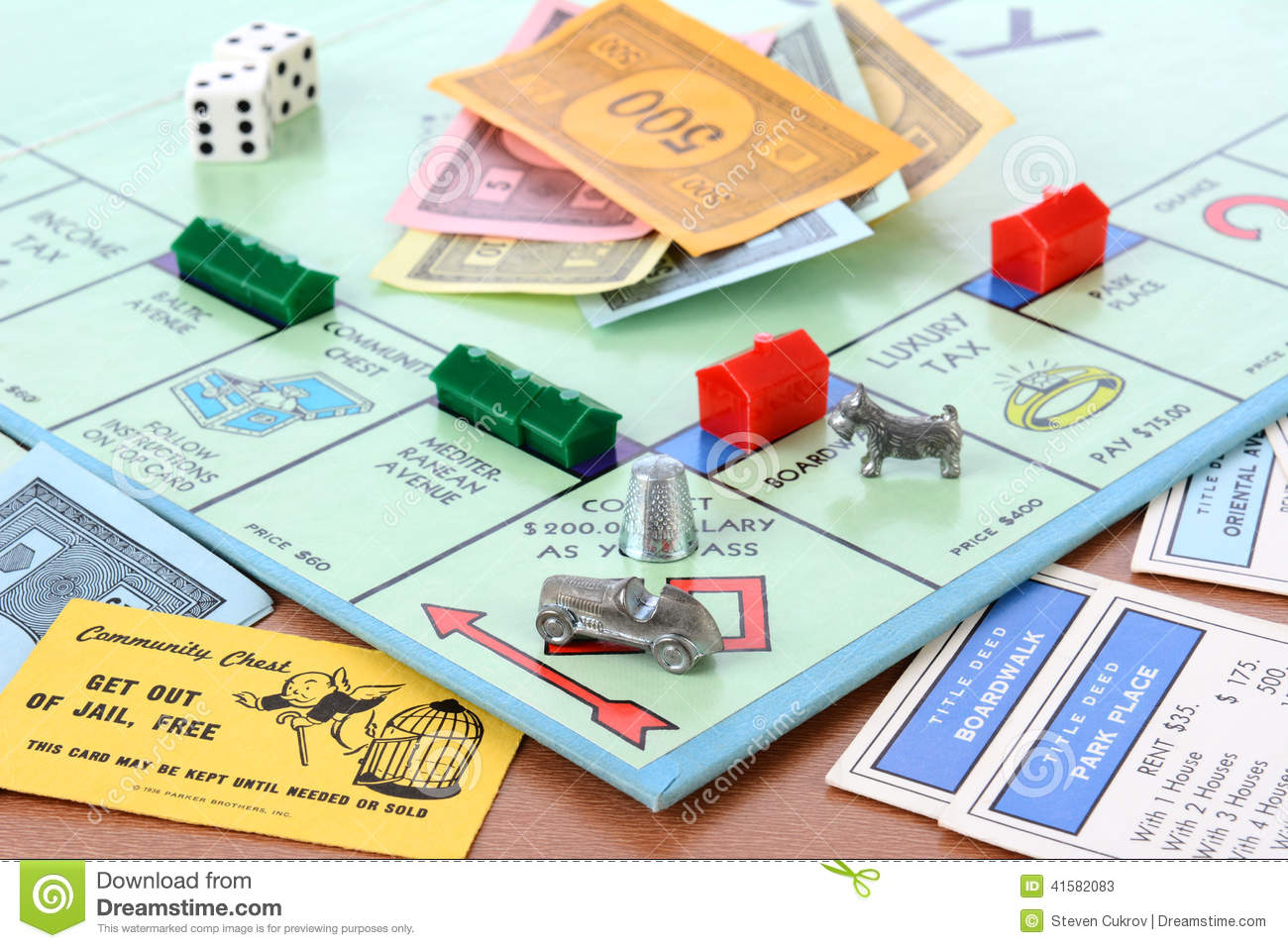 Custom Card Template monopoly cards template : IRVINE, CA - MAY 19, 2014: Monopoly Board Game Closeup. The classic ...