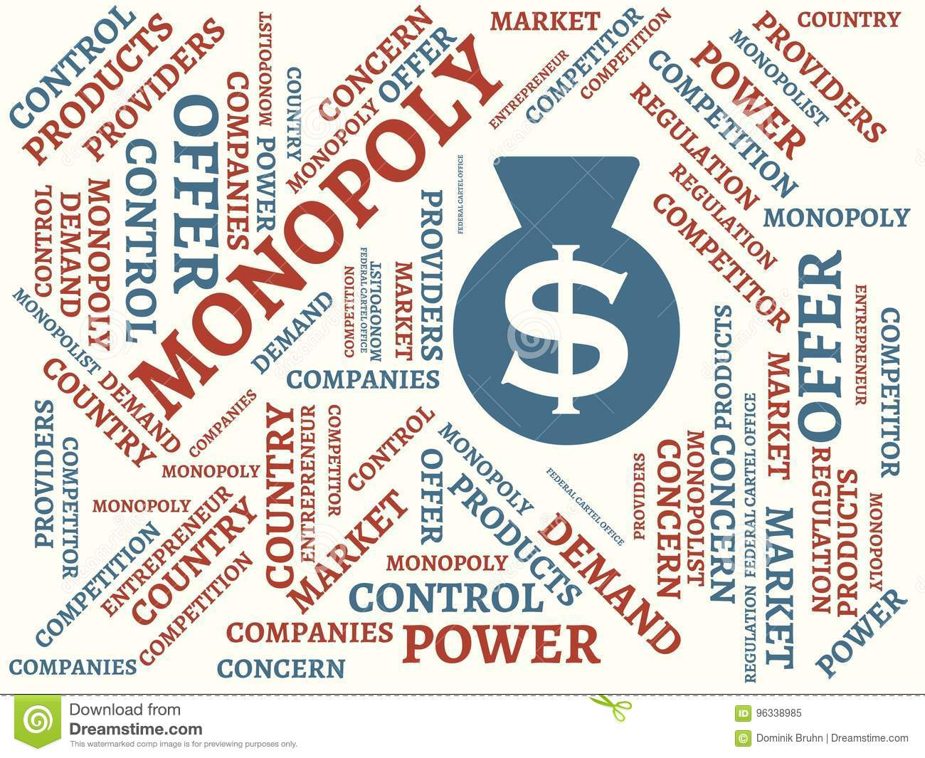 Monopoly Competition Image With Words Associated With The Topic