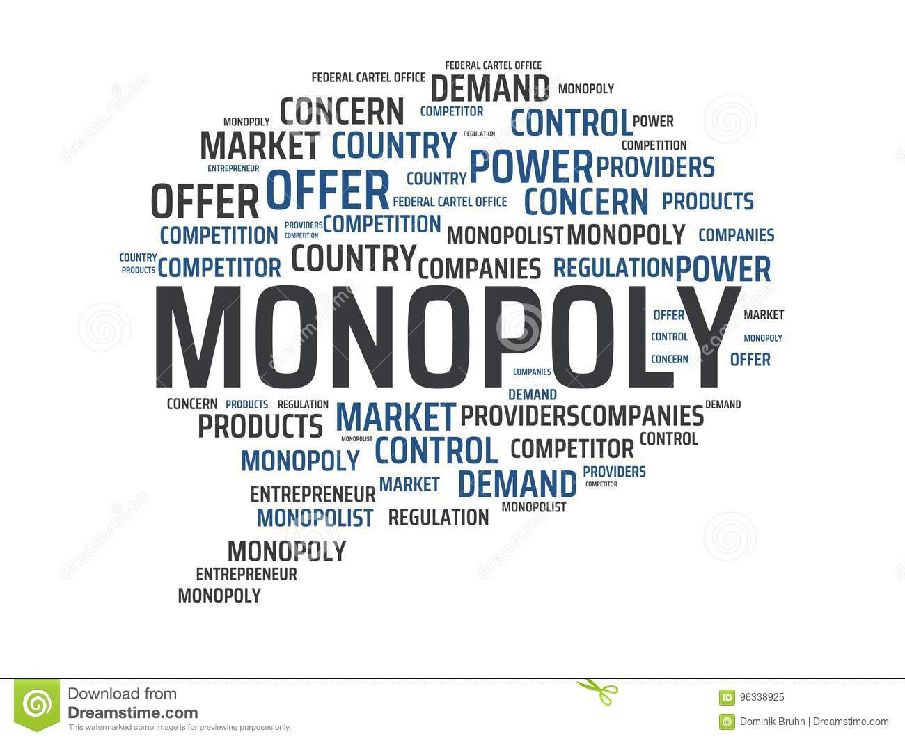 Monopoly Image With Words Associated With The Topic Monopoly Word