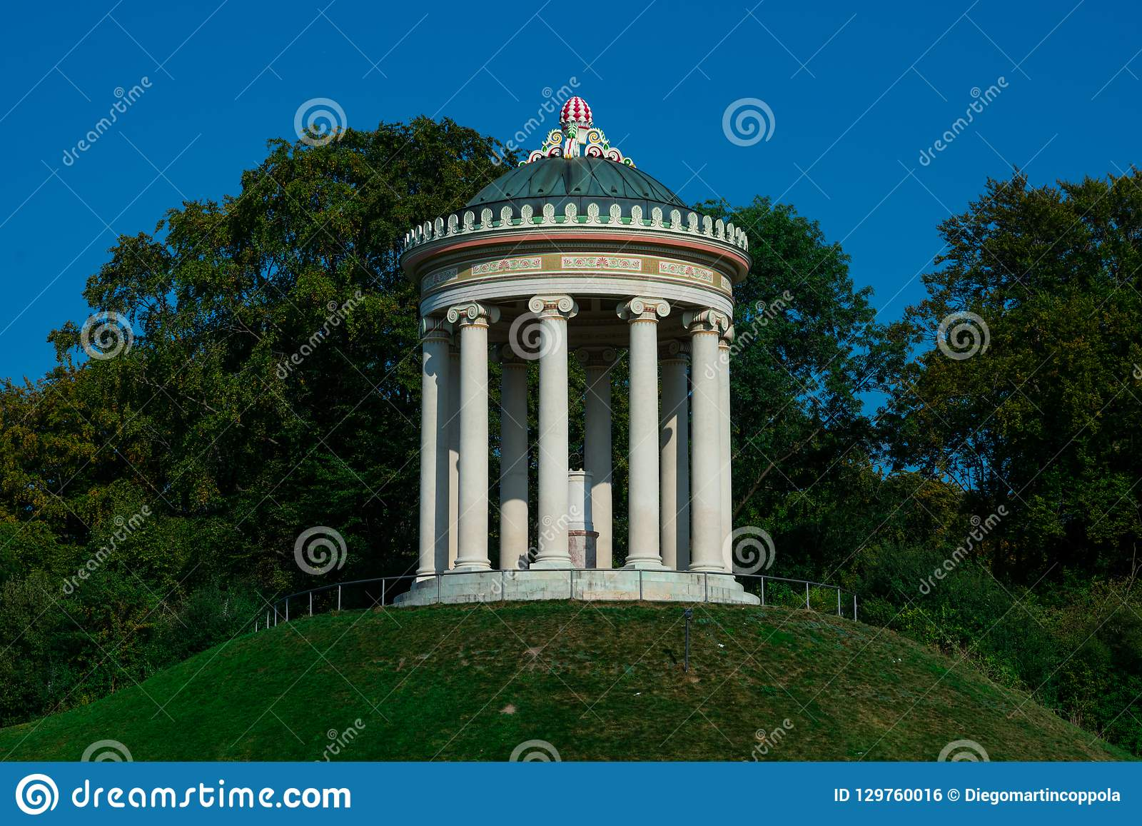 Monopteros A Greek Style Temple Stock Photo Image Of Columns