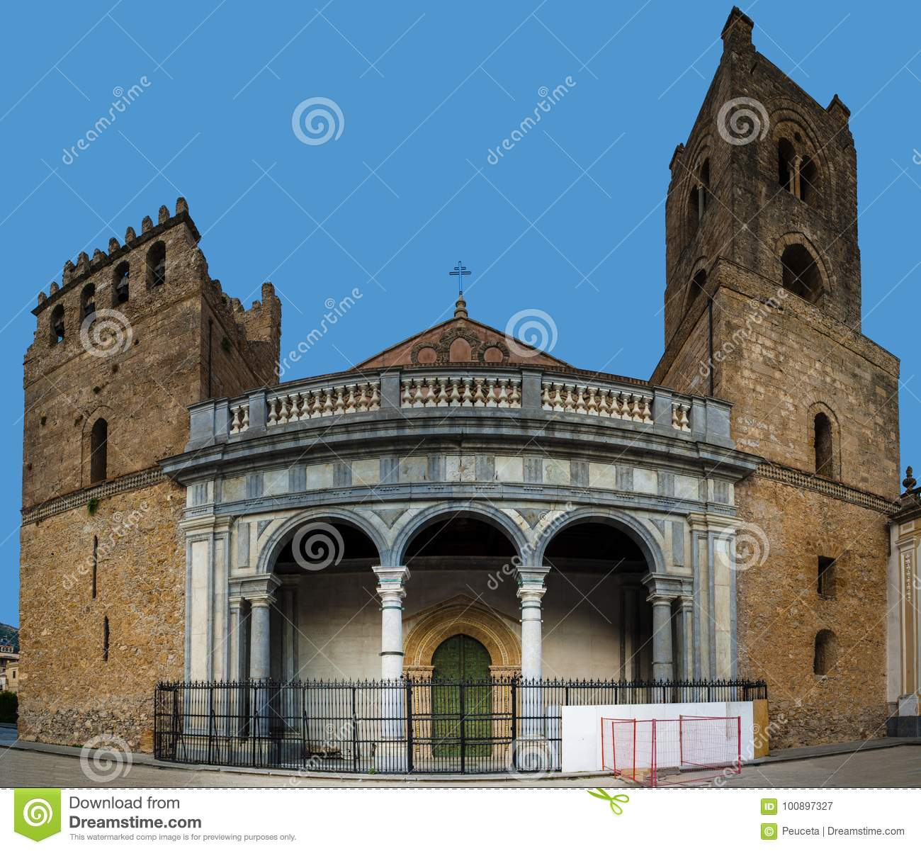 monreale cathedral duomo di monreale stock image image of outside