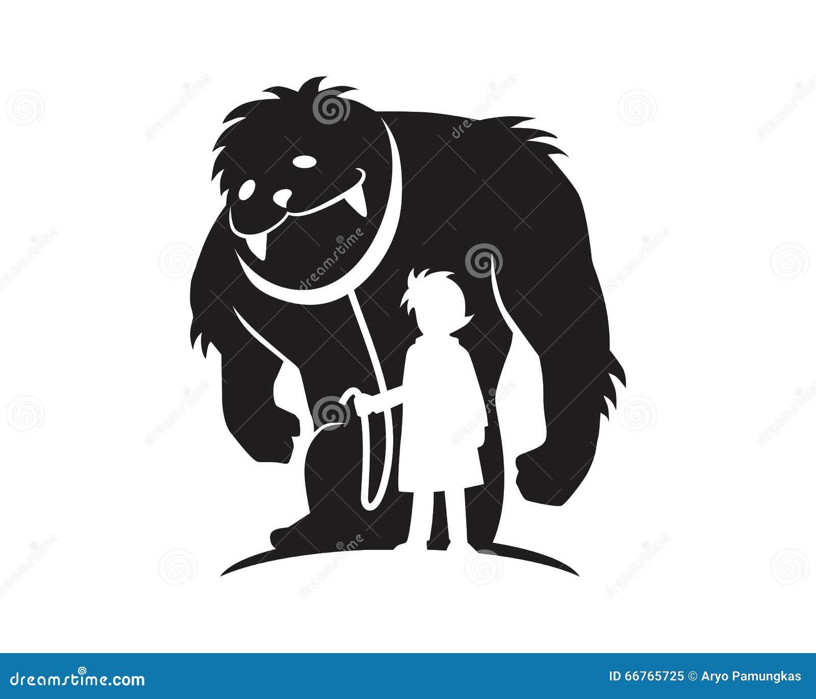 Monster beast silhouette