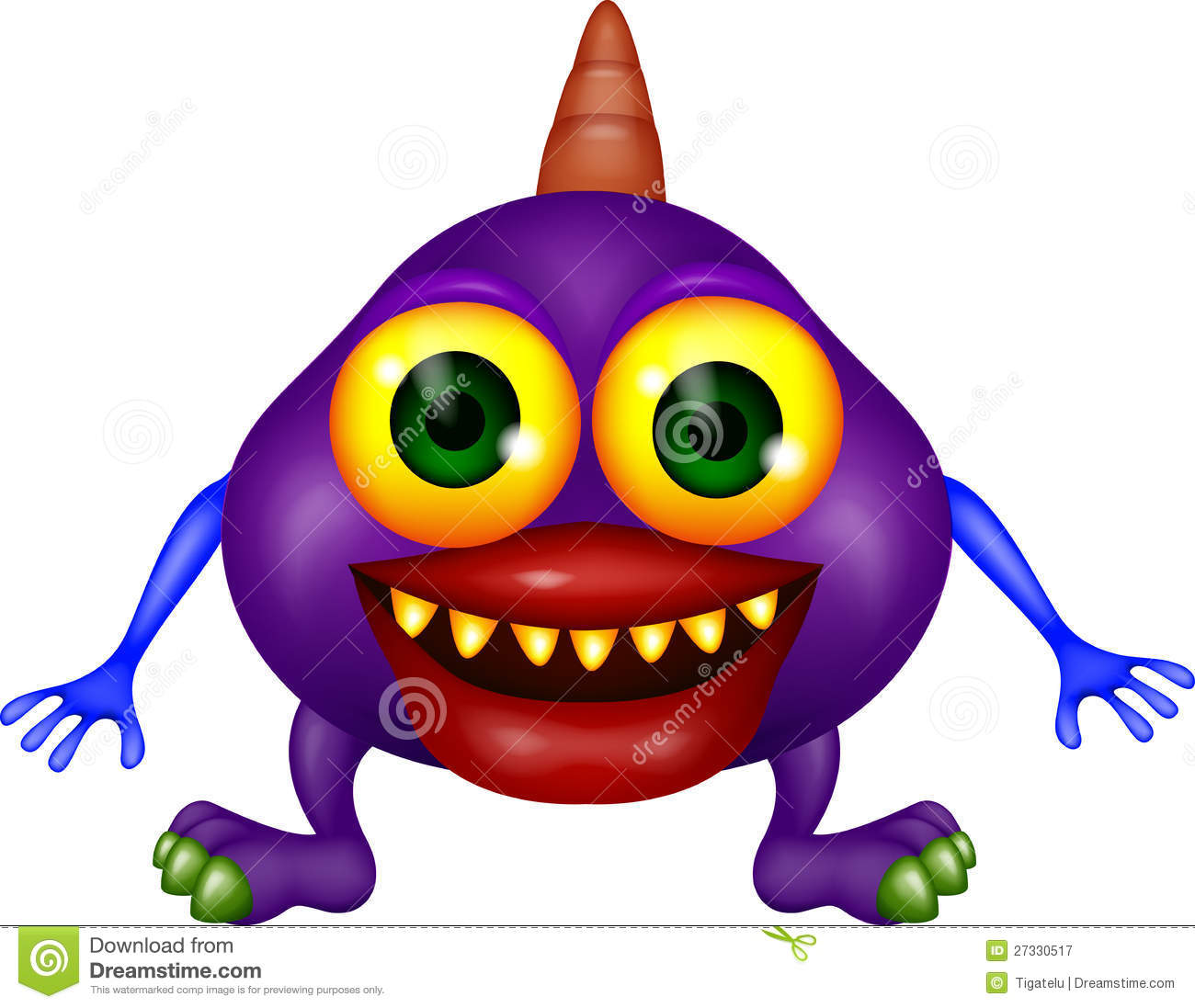 Monster Cartoon Royalty Free Stock Photography - Image: 27330517