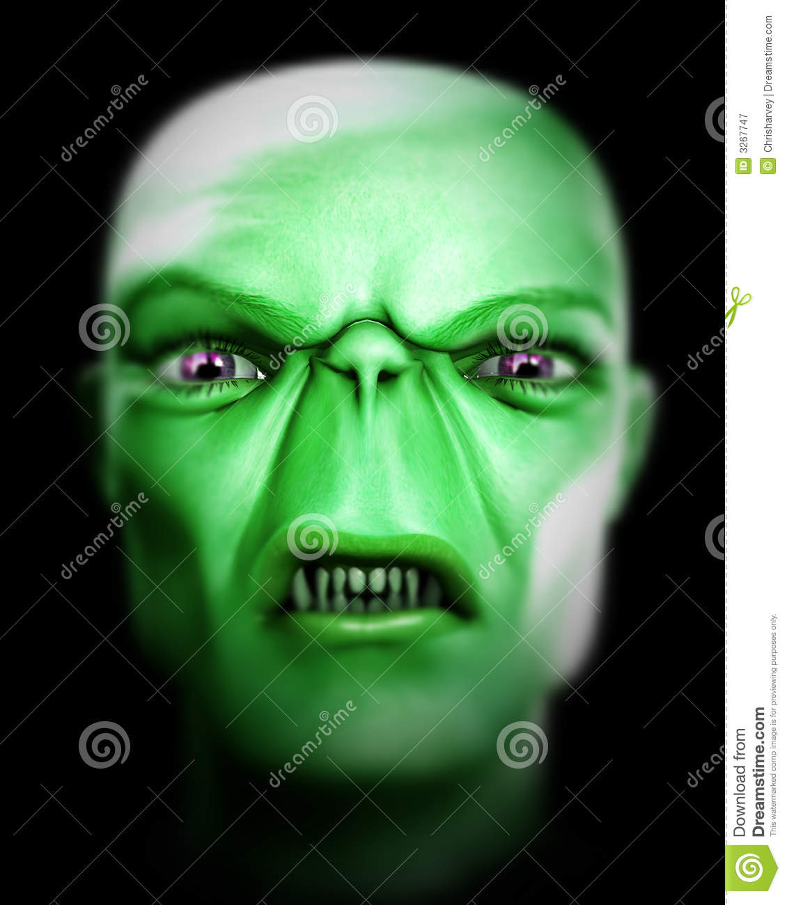 Monster Face 104 Royalty Free Stock Photography - Image: 3267747 Angry Black Woman Face