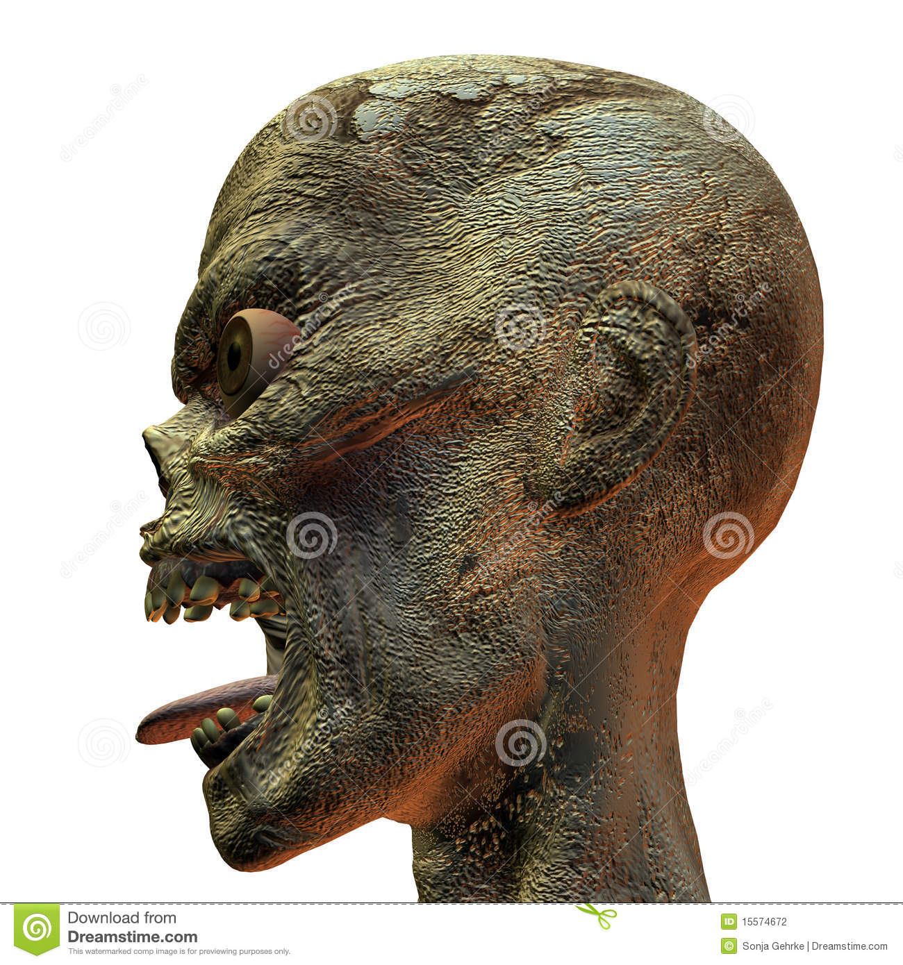 Monster Head Stock Photography Image 15574672