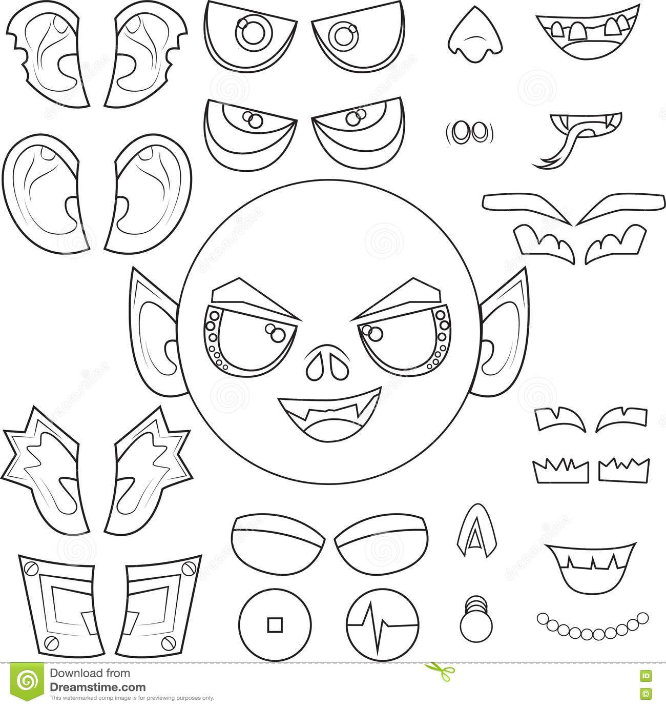 Monster Body Outline Printable