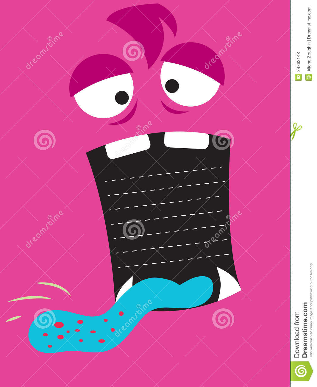 Monster stock vector. Illustration of message, tongue - 34362148