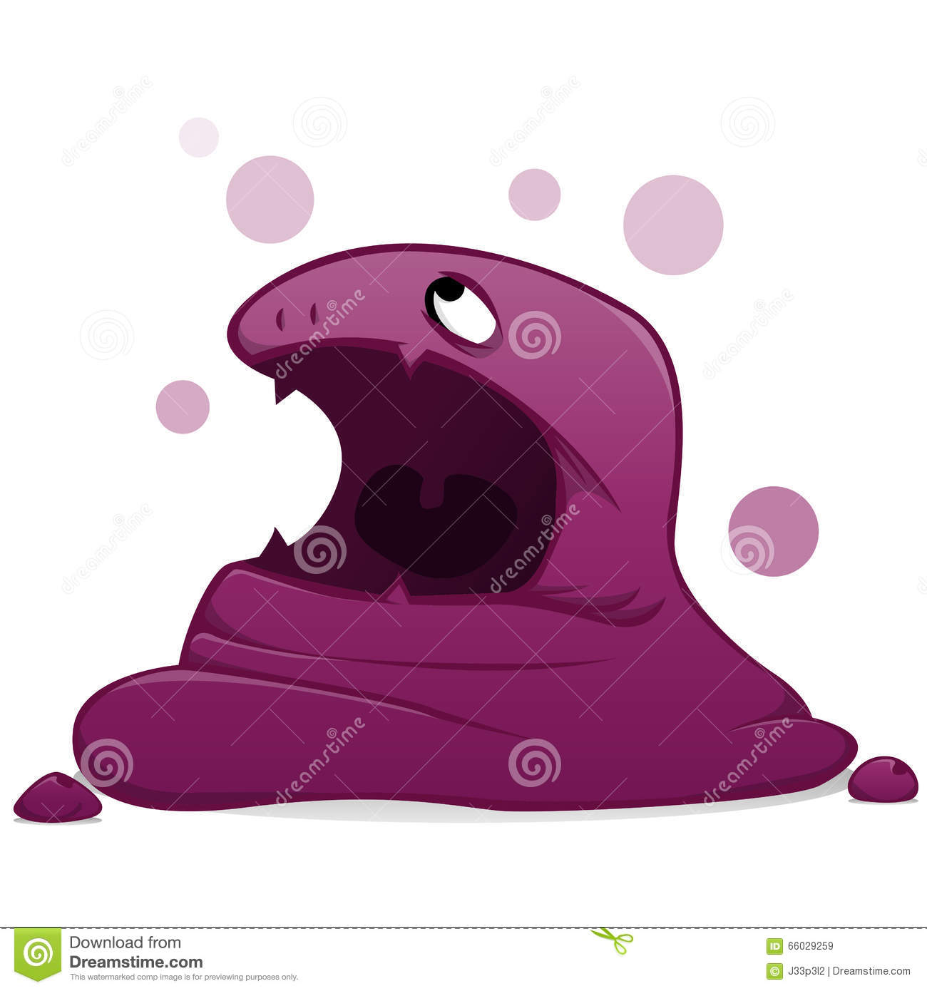 Monster Purple Slime Stock Illustration - Image: 66029259