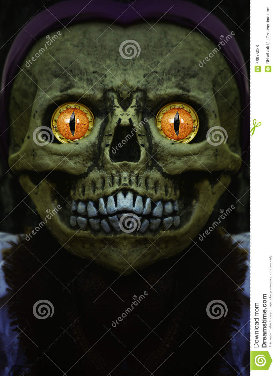 Monster royalty free cartoon 17609486 - Scary yellow eyes ...