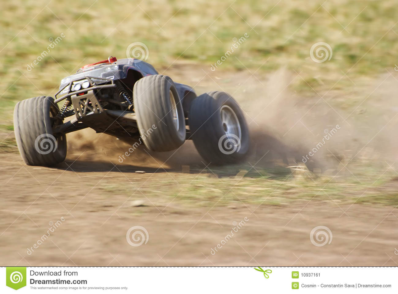 Monster Truck In Action On The Terrain Stock Image Image