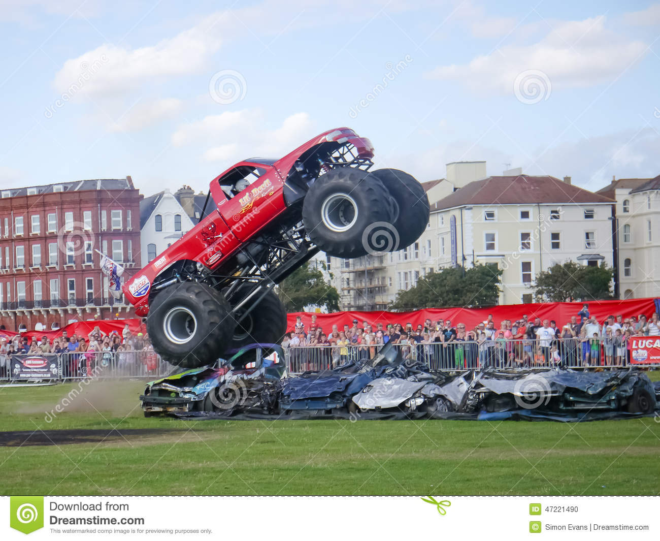 Monster Truck Crushing Editorial Image Image