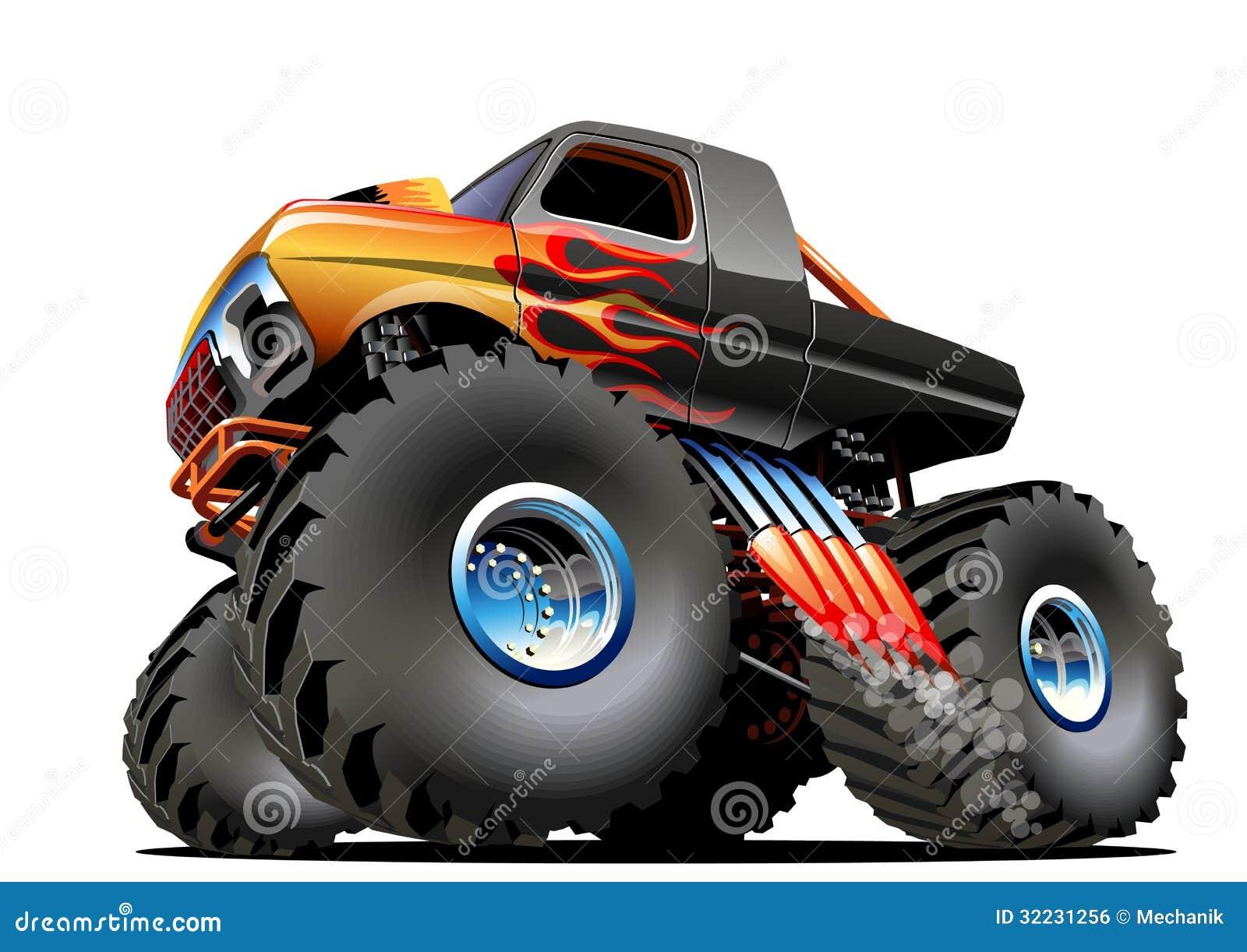 monster truck dos desenhos animados ilustração do vetor ilustração