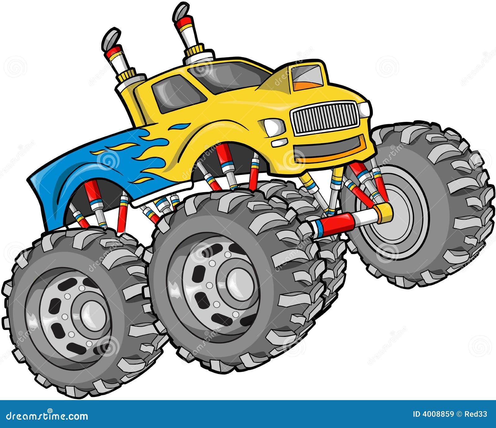 monster truck illustration stock vector illustration of fast 4008859 rh dreamstime com monster jam clip art free blaze monster truck clip art