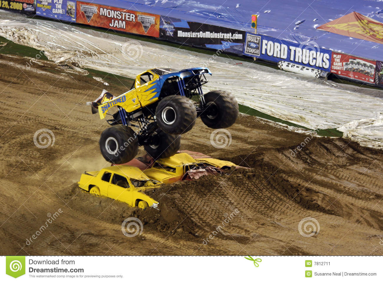 Monster Truck Jumps Over Cars Editorial Photo Image Of Extreme