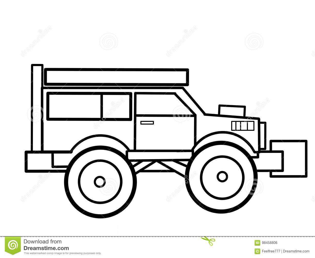 Monster Truck Kids Educational Coloring Pages Stock Illustration Illustration Of Nail Page 98458806