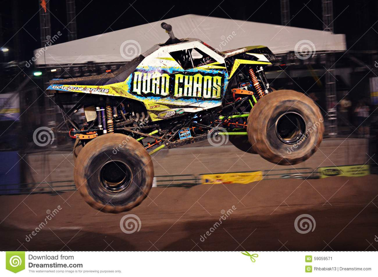 monster truck flying in air editorial photo image 9614021