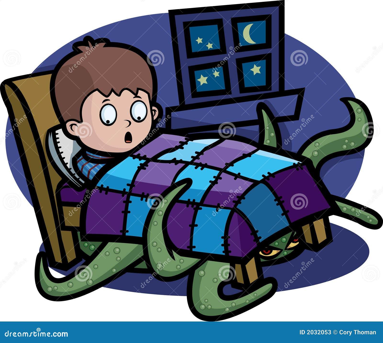 monster unter dem bett vektor abbildung bild von bogeyman 2032053. Black Bedroom Furniture Sets. Home Design Ideas
