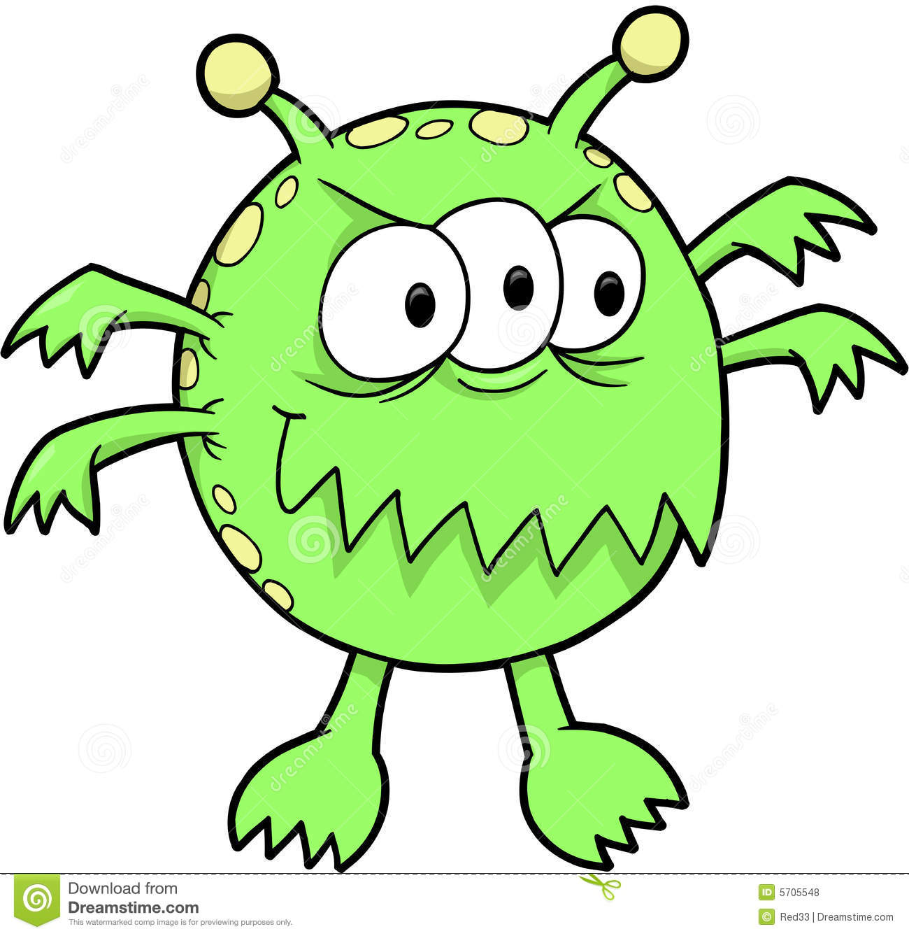 Monster Vector Illustration Royalty Free Stock Photos - Image: 5705548