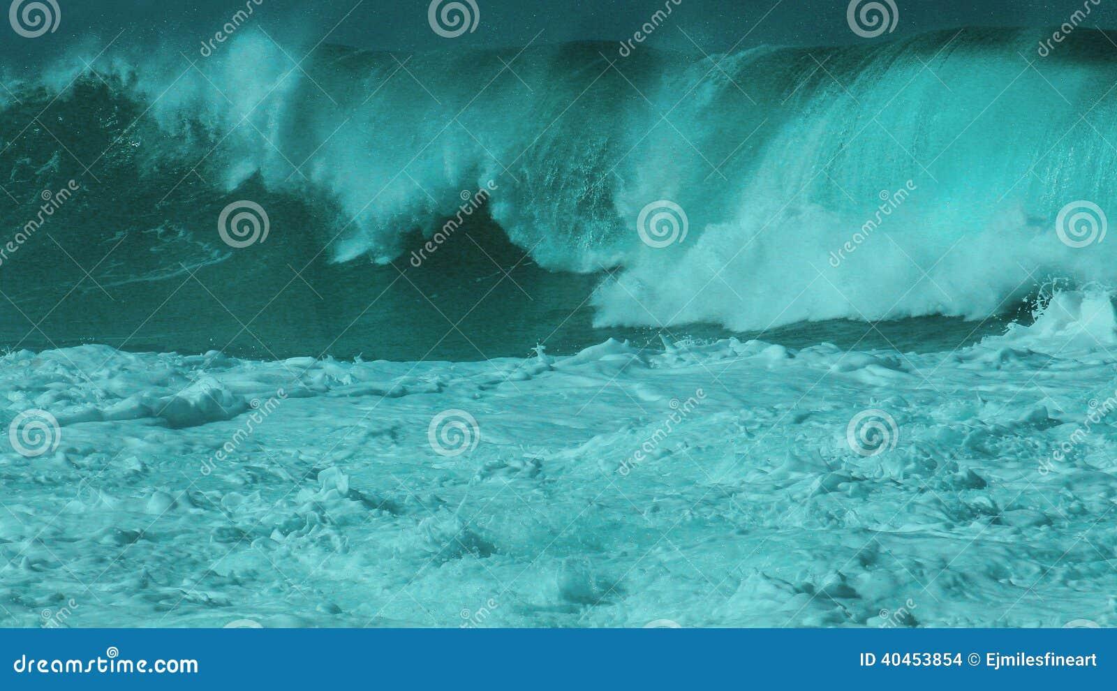 Monster Waimea bay closeout set wave