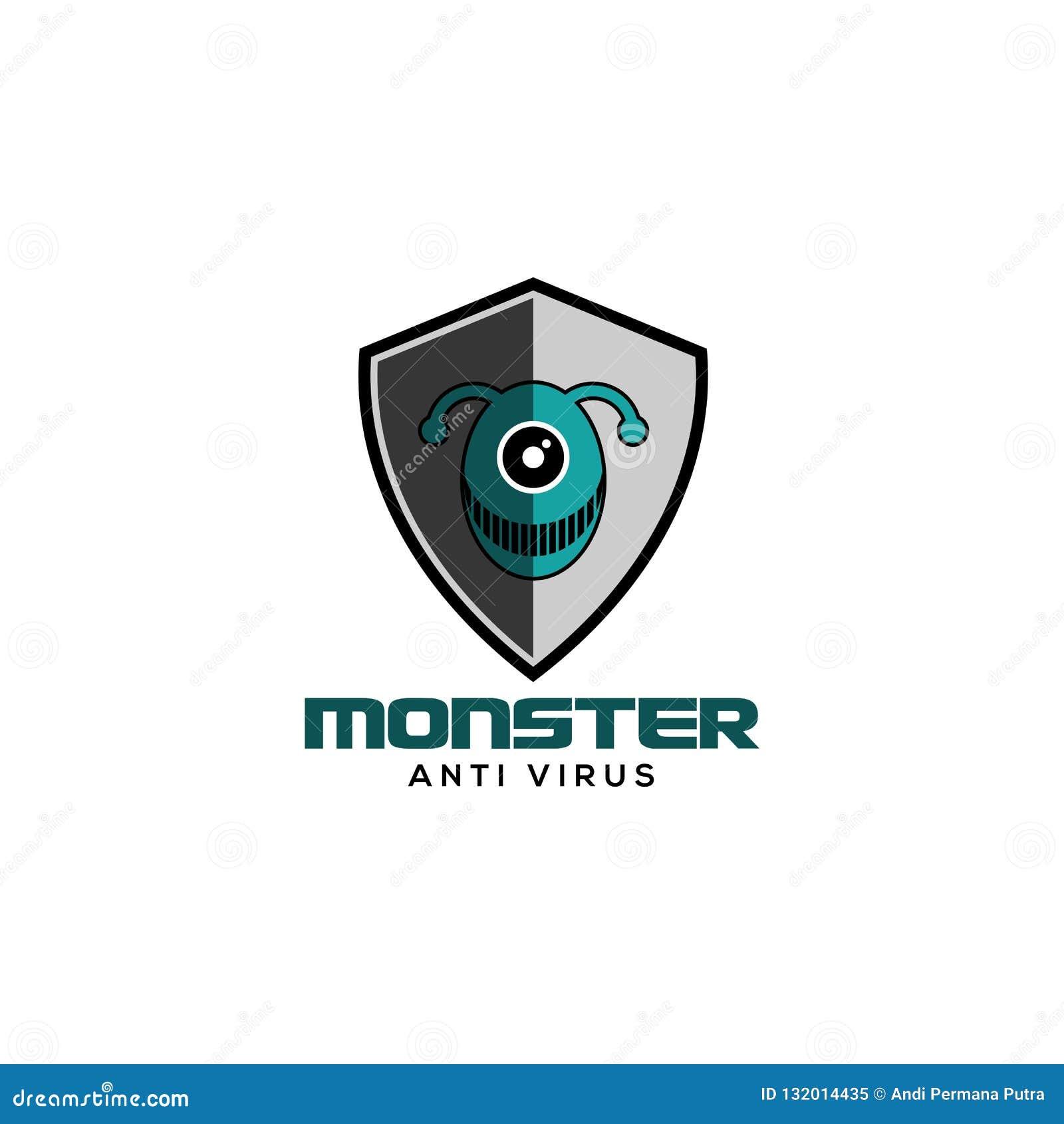 Monsterantivirus-Logovektor
