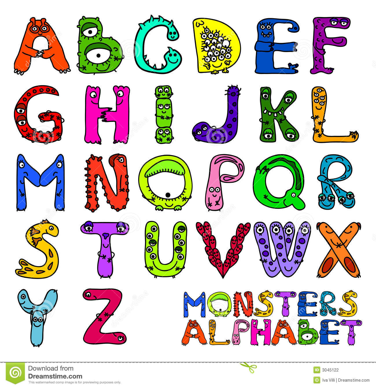 Mythical Monster  Letters
