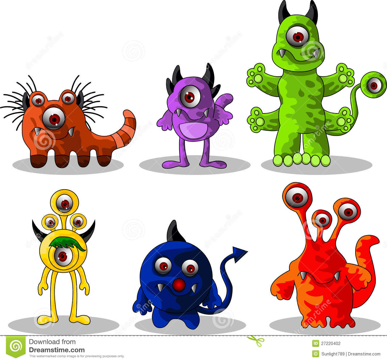 Monsters cartoon collection stock photography image 27220402