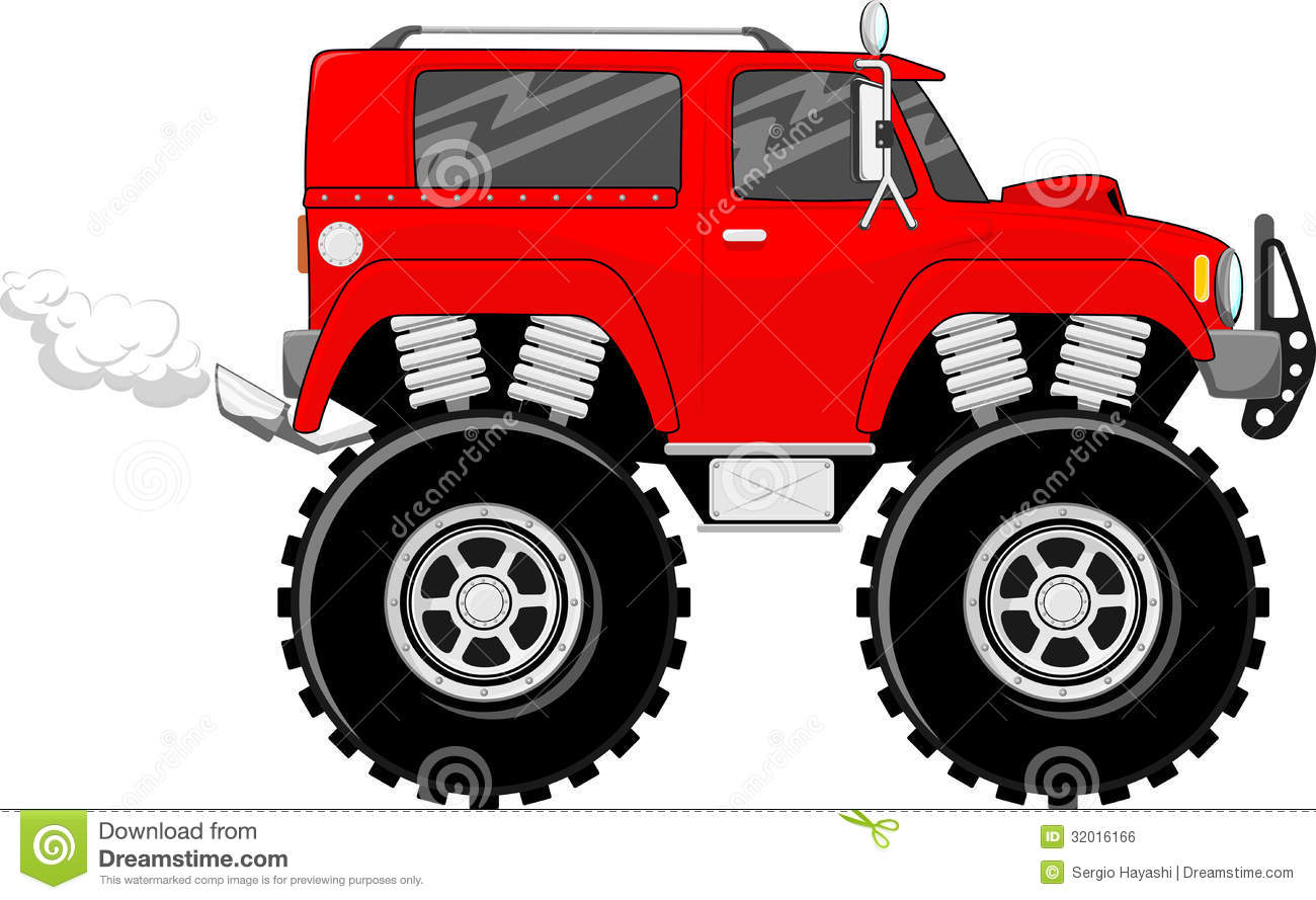 Monstertruck Cartoon Vector Royalty Free Stock Image Image