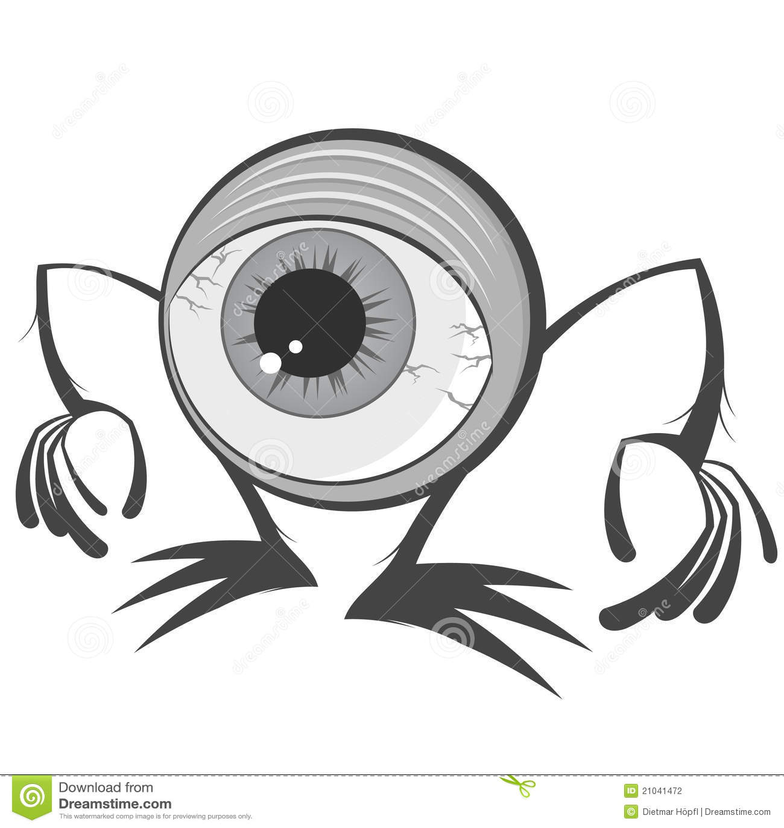 Monstre de globe oculaire de dessin anim illustration de vecteur illustration du effroi - Dessins de monstres ...