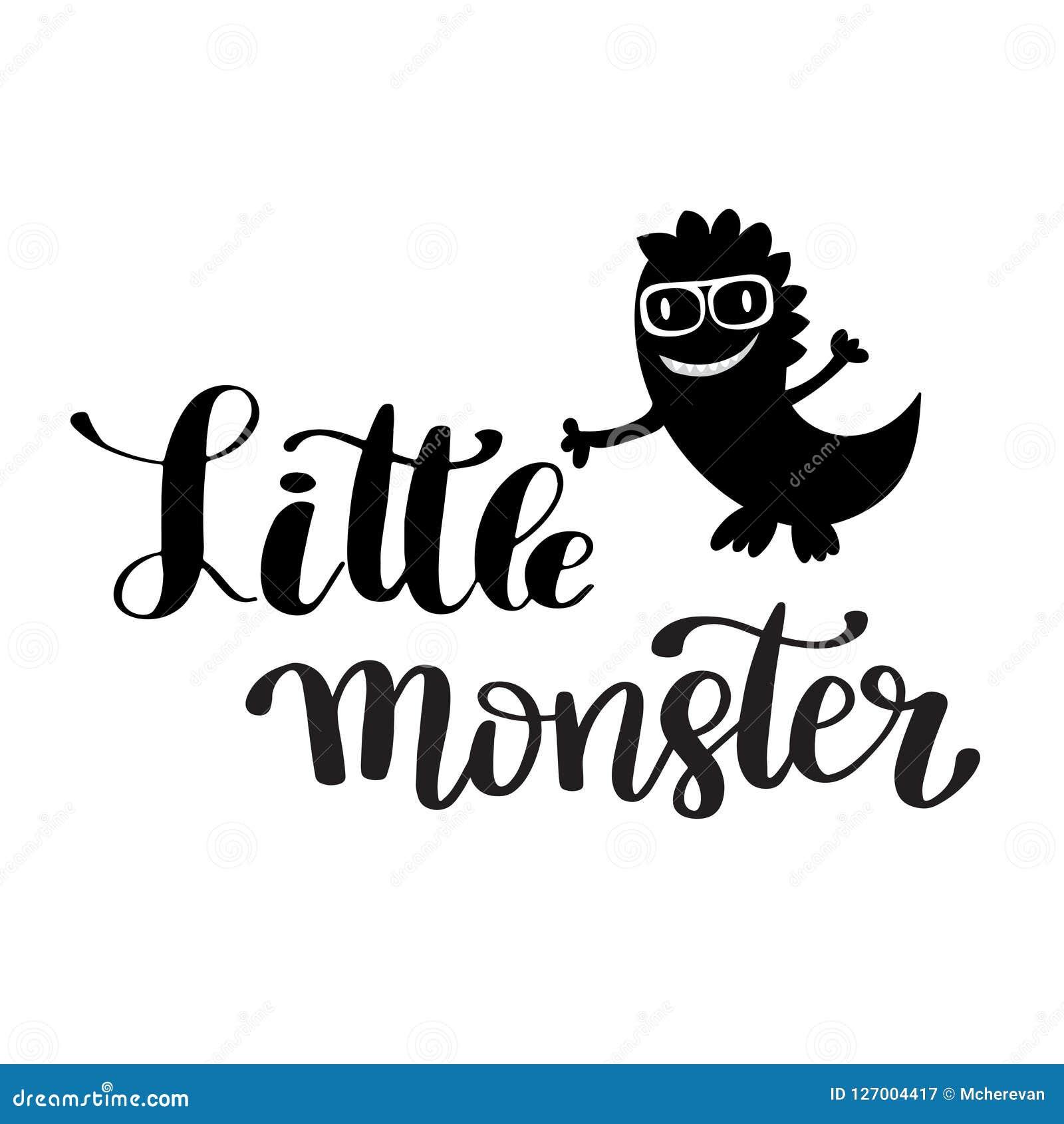 Monstruo Dibujado Mano De La Cita De Las Letras Pequeño Stock de ... c7871f95ddc44