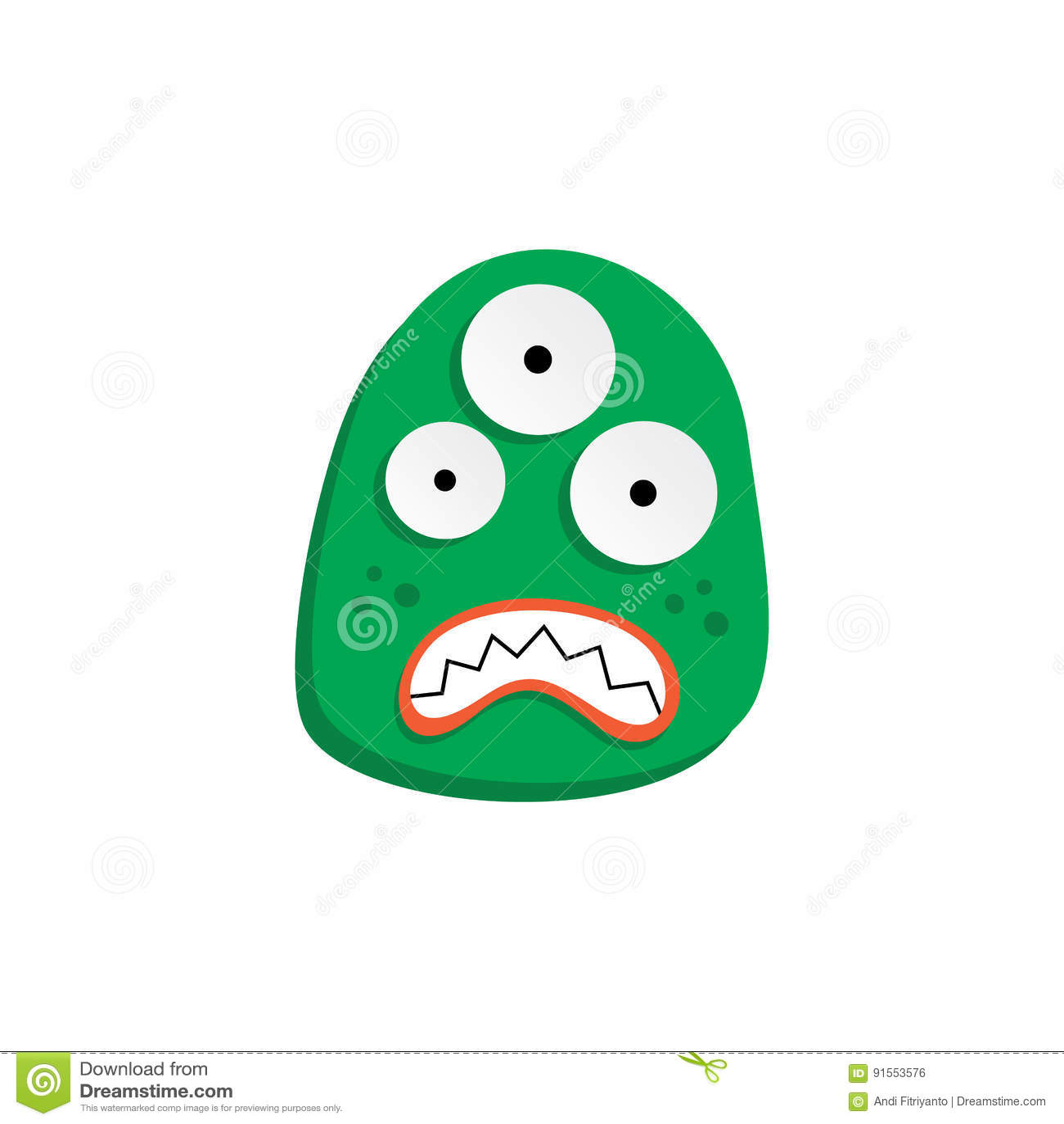 Monstruo divertido asustadizo feo adorable lindo de la mascota
