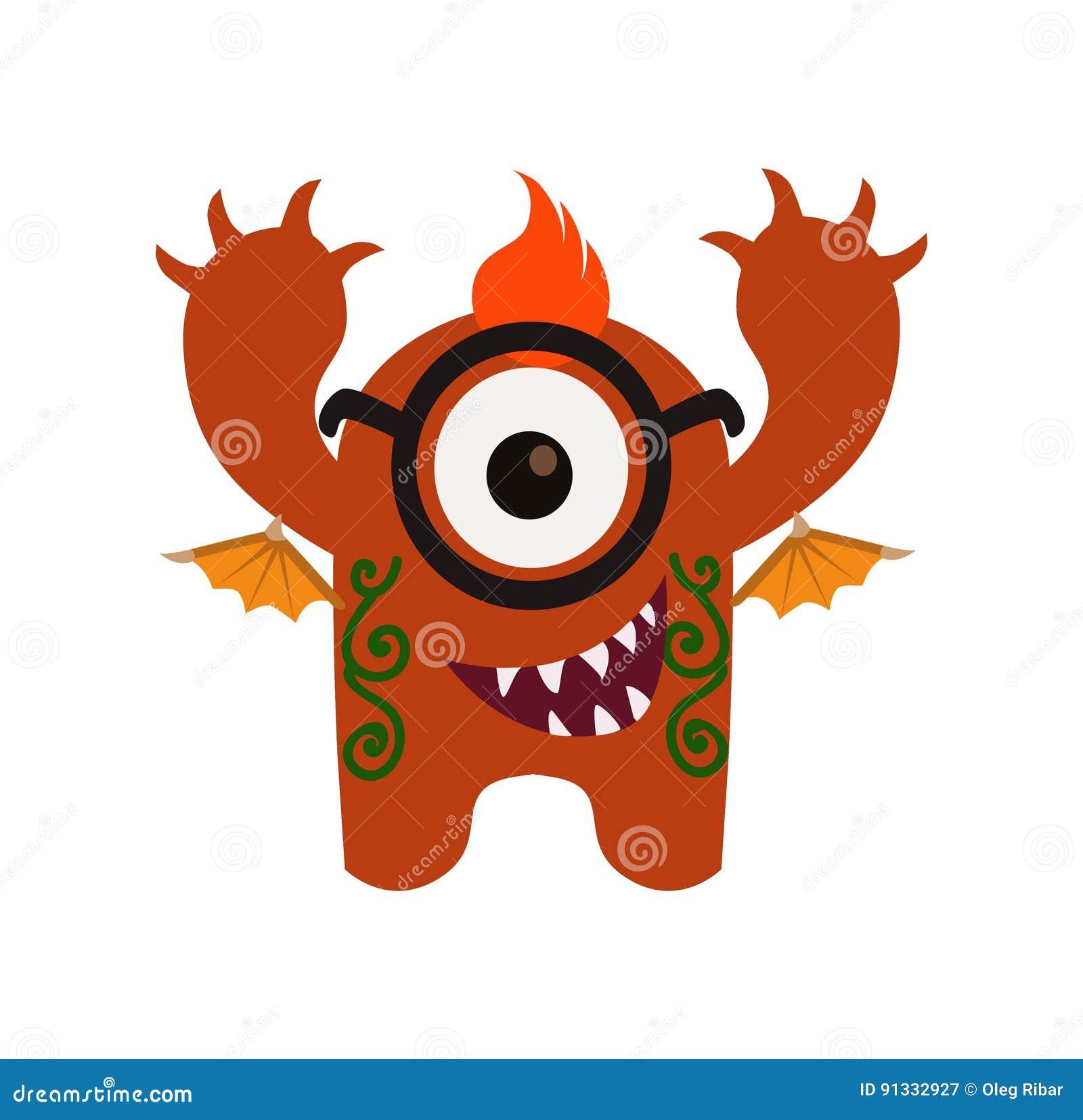 monstruo lindo y divertido avatar personaje de dibujos animados