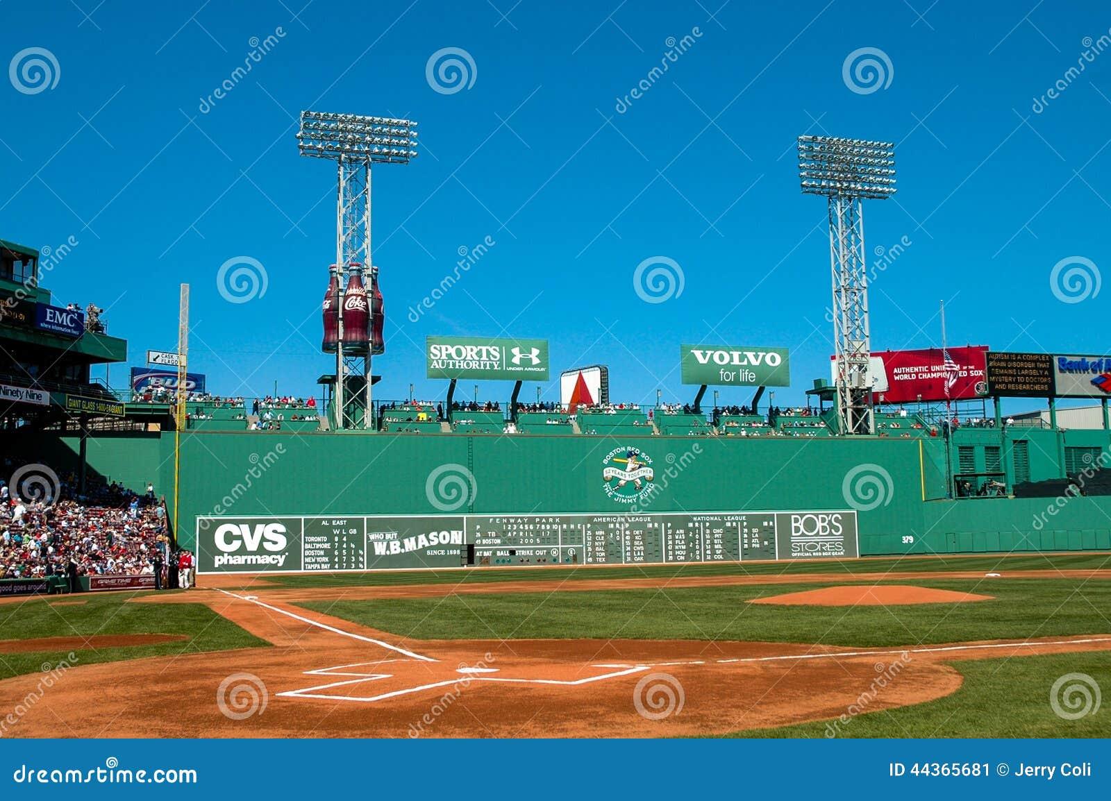 Monstruo Verde, Fenway Park, Boston, MA Foto editorial - Imagen de ...