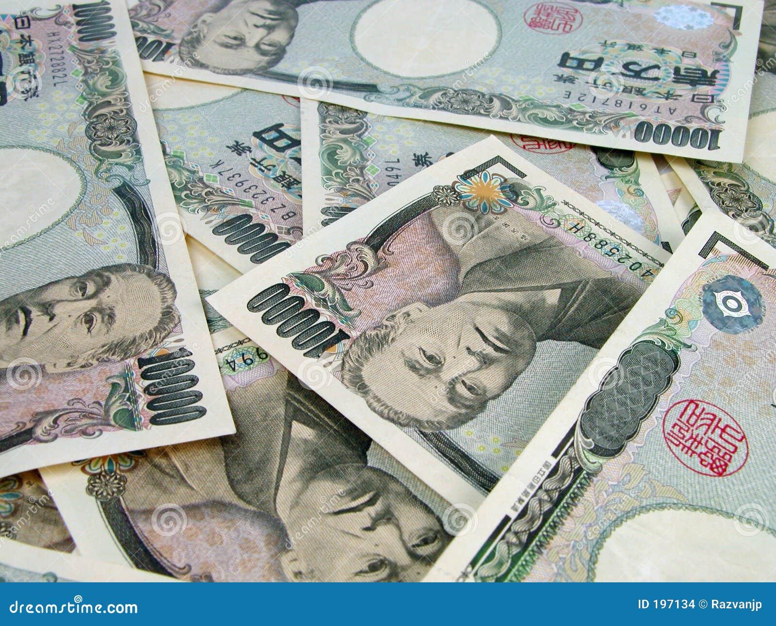 Montón de las cuentas de los Yenes