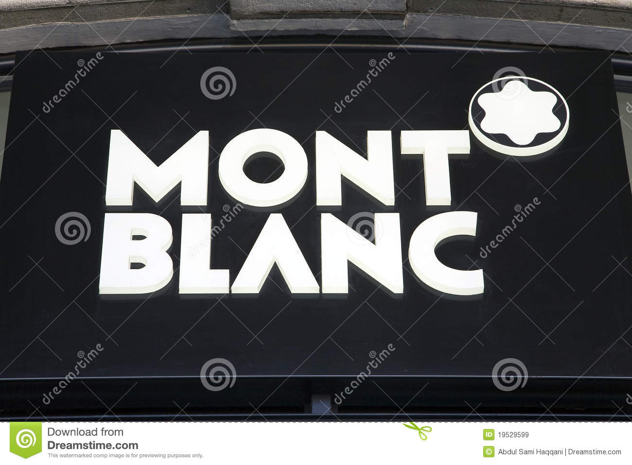 Mont Blanc Logo Editorial Stock Image Image Of Decorative 19529599