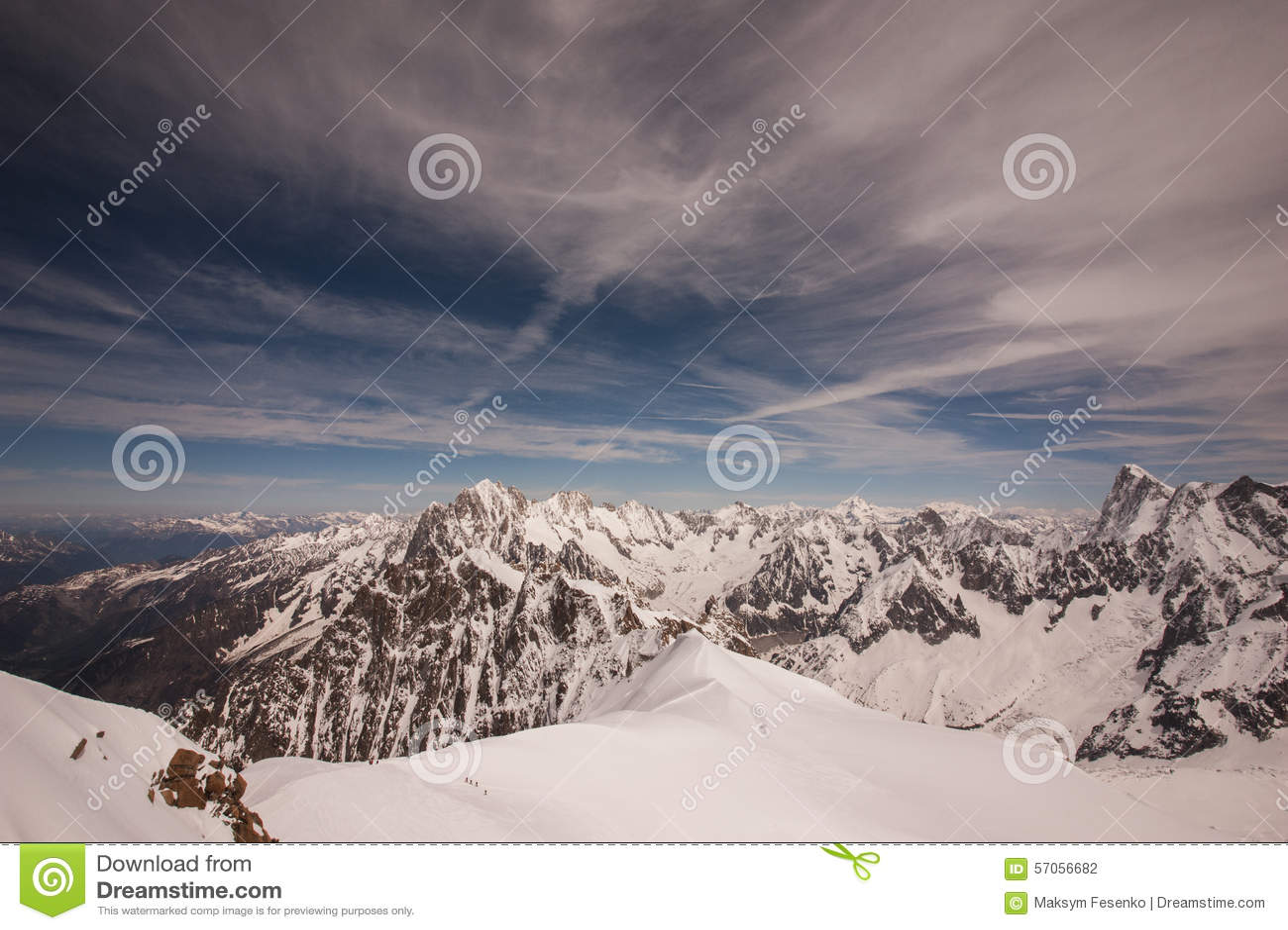 Mont Blanc-massief in Franse Alpen