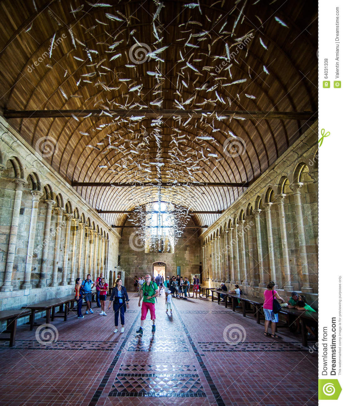 Mont saint michel abbey interior editorial stock photo for Interieur frans