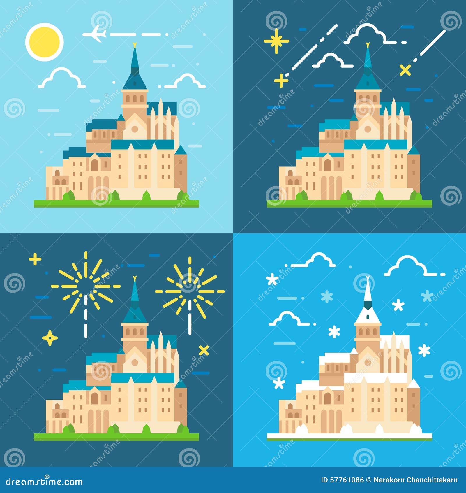 Mont Saint Michel lägenhetdesign