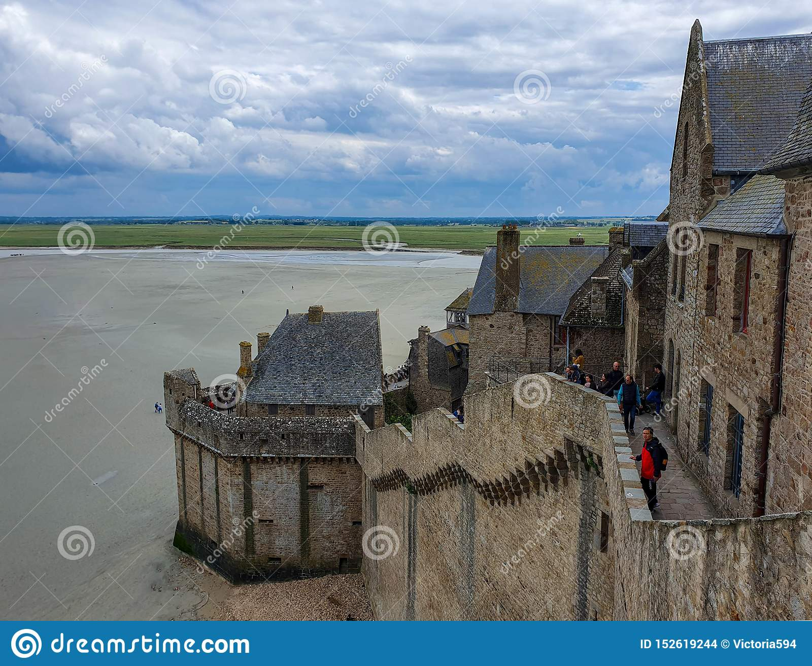 Mont Saint-Michel, Normandy, northern France. Summer 2019